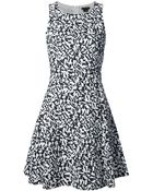Theory Flared Patterned Dress - Lyst