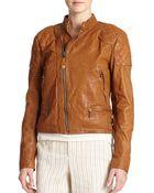 Polo Ralph Lauren Leather Biker Jacket - Lyst
