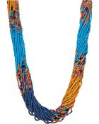 Cara Multi-Row Beaded Necklace - Lyst