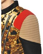 Givenchy Sequin Printed Felted Wool Coat - Lyst