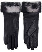 Yves Salomon Fur Trim Leather Gloves - Lyst