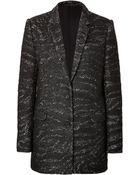 The Kooples Wool-Blend Swirl Print Coat - Lyst
