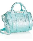 Alexander Wang Rockie Metallic Textured-Leather Tote - Lyst