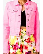 Forever 21 Neon Denim Jacket - Lyst
