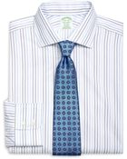 Brooks Brothers Non-Iron Milano Fit Alternating Stripe Dress Shirt - Lyst