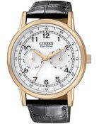 Citizen Mens Black Strap White Dial Watch - Lyst