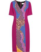 Peter Pilotto Printed Stretch-Wool Crepe Dress - Lyst