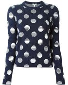 Kenzo Dots And Stripes Sweater - Lyst