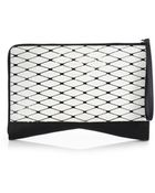 Narciso Rodriguez Laser-Printed Mixed-Media Folio Clutch - Lyst
