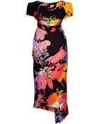 Vivienne Westwood Gold Label Floral-Print Draped Dress - Lyst