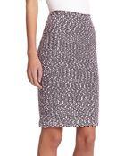 St. John Ribbon Tweed Knit Pencil Skirt - Lyst