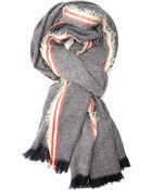 Forever 21 Striped & Frayed Scarf - Lyst