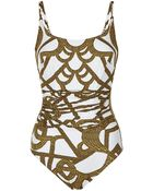 Maryan Mehlhorn Catenia Ruched Swimsuit - Lyst