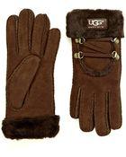 Ugg Fur-Lined Gloves - Lyst