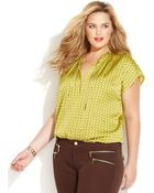 Michael Kors Michael Plus Size Printed Chaindetail Top - Lyst