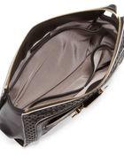 Jason Wu Daphne Lasercut Clutch Bag Black - Lyst