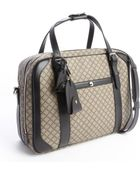 Gucci Beige And Black Diamante Canvas Carry On - Lyst