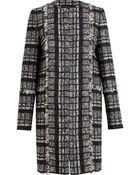 Proenza Schouler Collarless Tweed Coat - Lyst