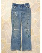 Free People Womens Paint Splattered Wrangler Jeans - Lyst