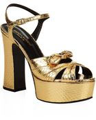 Saint Laurent Candy 80 Bow Platform Sandals - Lyst