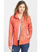 Vince Camuto Coated Cotton Four Pocket Jacket - Lyst
