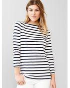 Gap Stripe Side-Zip Boatneck Tee - Lyst