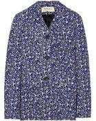 Marni Printed Linen-Blend Jacket - Lyst