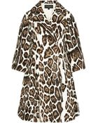 Giambattista Valli Leopardprint Goat Hair Coat - Lyst