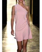 Cushnie et Ochs One Shoulder Dress Rose - Lyst