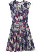 Rebecca Taylor Short Sleeve Rose Garden Godet Dress - Lyst