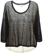 IRO Sheer Panelled Sweater - Lyst