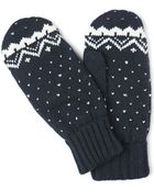 French Connection Navy Fairisle Print Gloves - Lyst