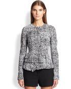 Proenza Schouler Tweed Chiffon Peplum Jacket - Lyst