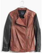 Madewell Quilted Leather Backroad Jacket - Lyst