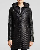 Dawn Levy Sly Ii Coat With Leather Sleeves - Lyst