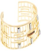 Trina Turk Open Work Stone Cuff Bracelet - Lyst