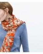 Zara Printed Scarf - Lyst