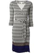Diane von Furstenberg Printed Dress - Lyst
