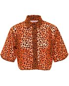 Christopher Kane Embroidered Cropped Shirt - Lyst