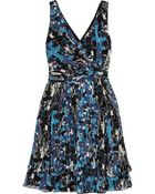 Oscar de la Renta Printed Silk-Chiffon Dress - Lyst