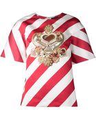 Manish Arora 'Candy Stripe' T-Shirt - Lyst