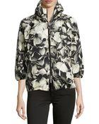 Moncler Teulie Hooded Floral-Print Jacket - Lyst