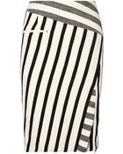 Altuzarra Arcadia Striped Cotton-Blend Canvas Pencil Skirt - Lyst
