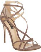 Dolce & Gabbana Cutout Crisscross-Straps Keira Sandals - Lyst
