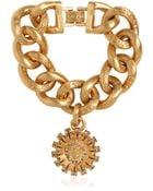 Versace Gold Plated Bracelet With Swarovski - Lyst