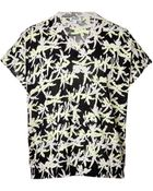 Kenzo Knit Cotton Printed Short Sleeve Top - Lyst