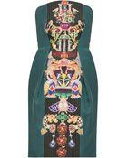 Mary Katrantzou Olympia Strapless Print Dress - Lyst