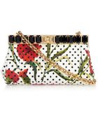 Dolce & Gabbana Marlene Printed Brocade Clutch - Lyst