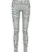 Just Cavalli Leopard-Print Stretch Leggings - Lyst