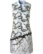 Mary Katrantzou Cotton And Tulle Embroidered Dress - Lyst